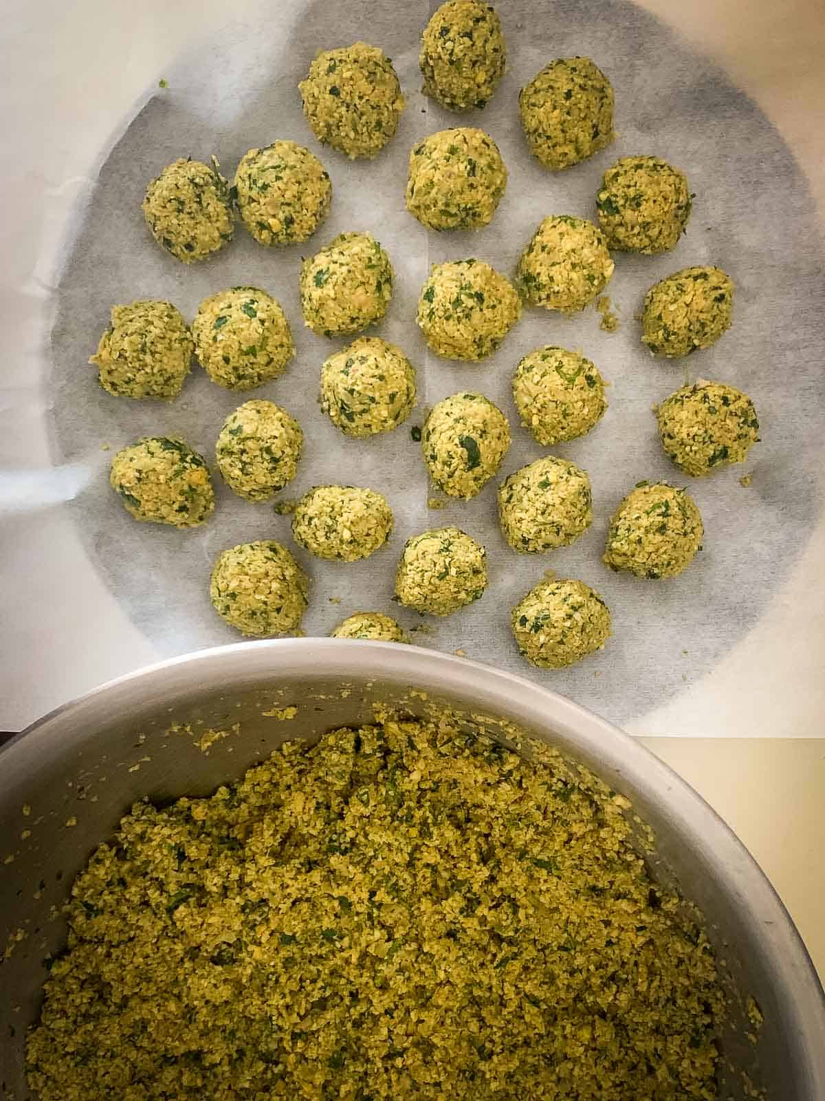 Prepping Falafel balls