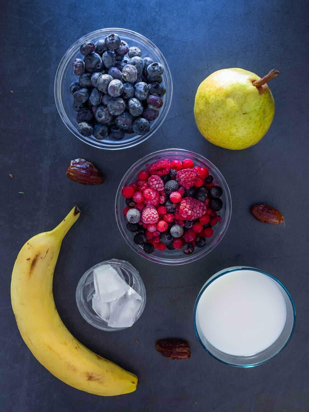 Mixed Berries Smoothie Ingredients