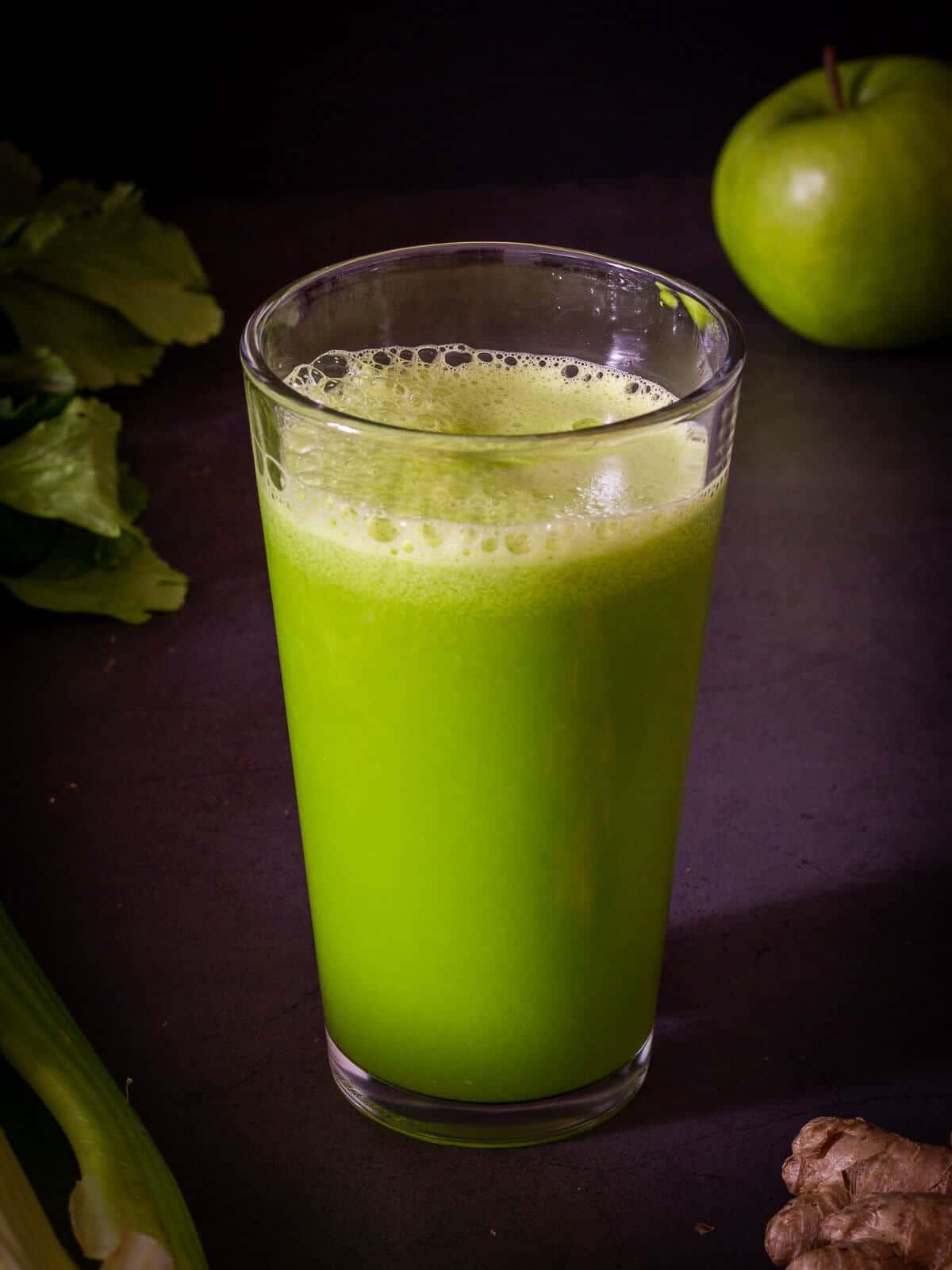 Glass of Morning Celery Juice