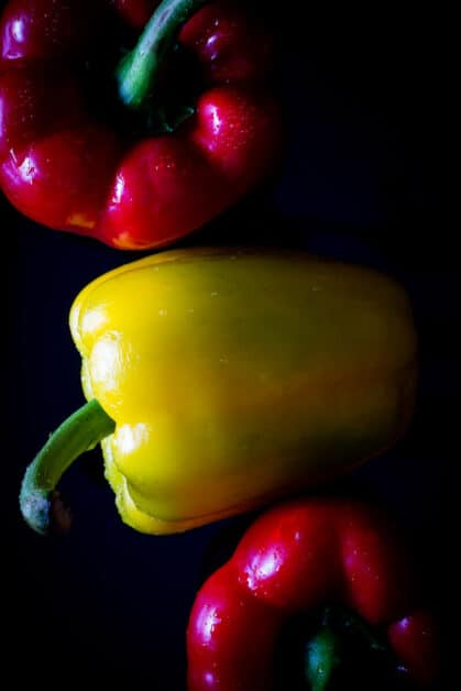 mixed red bell peppers