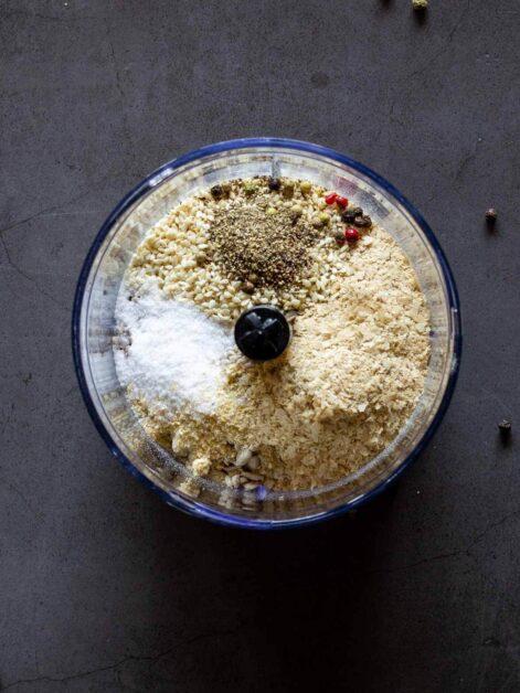 Ingredients in blender