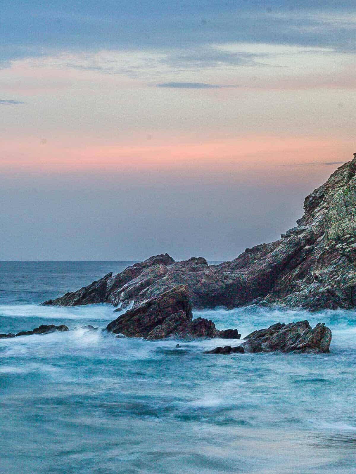 zipolite beach sunset