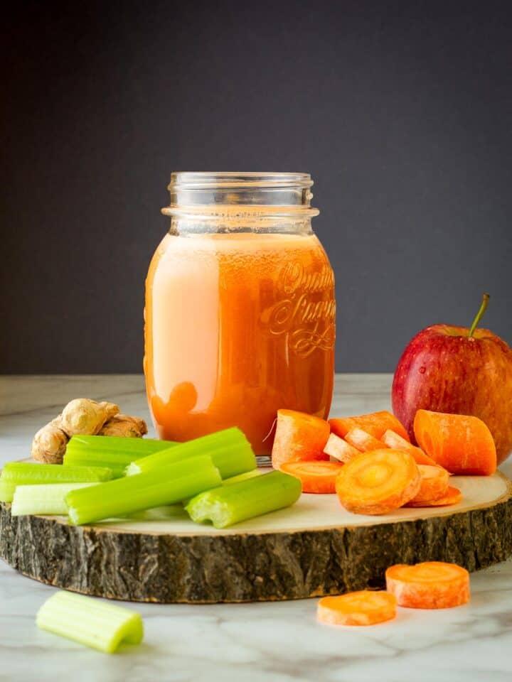 Carrot, Apple, and Celery Juice