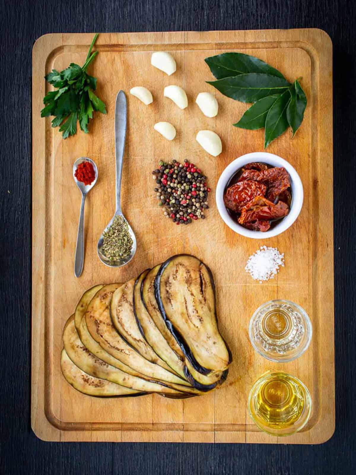 Pickled Eggplants son's version ingredients