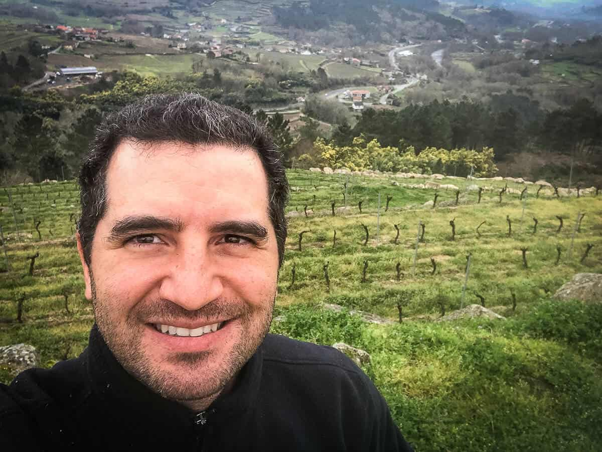 Ramon in vineyard