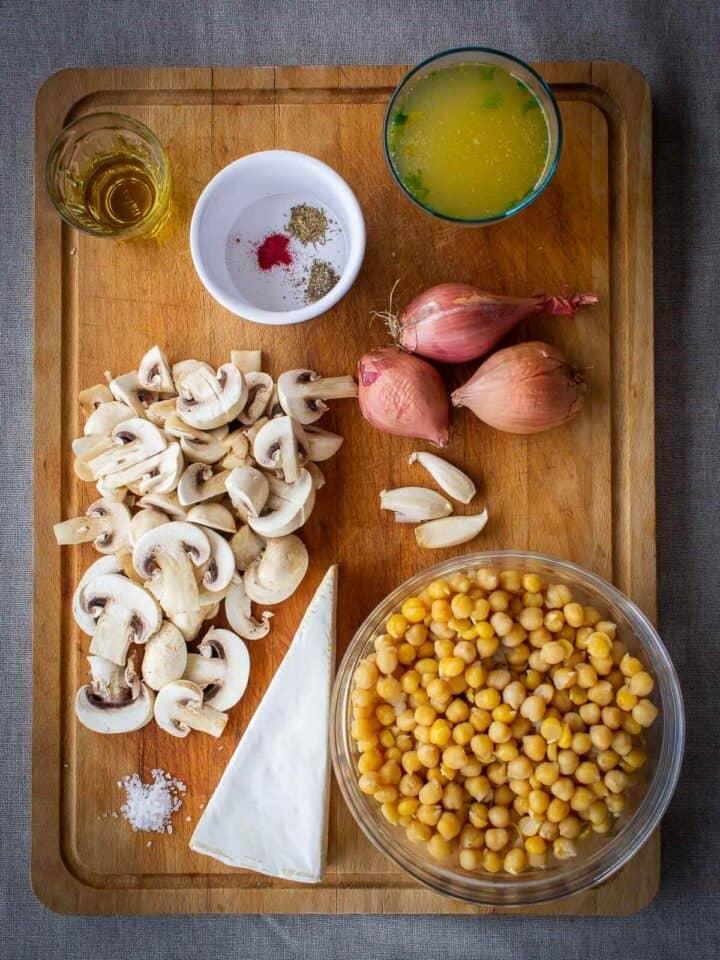 saffron garbanzo beans casserole ingredients