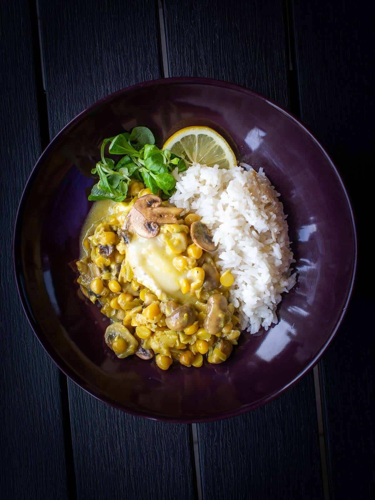 saffron garbanzo beans casserole with rice