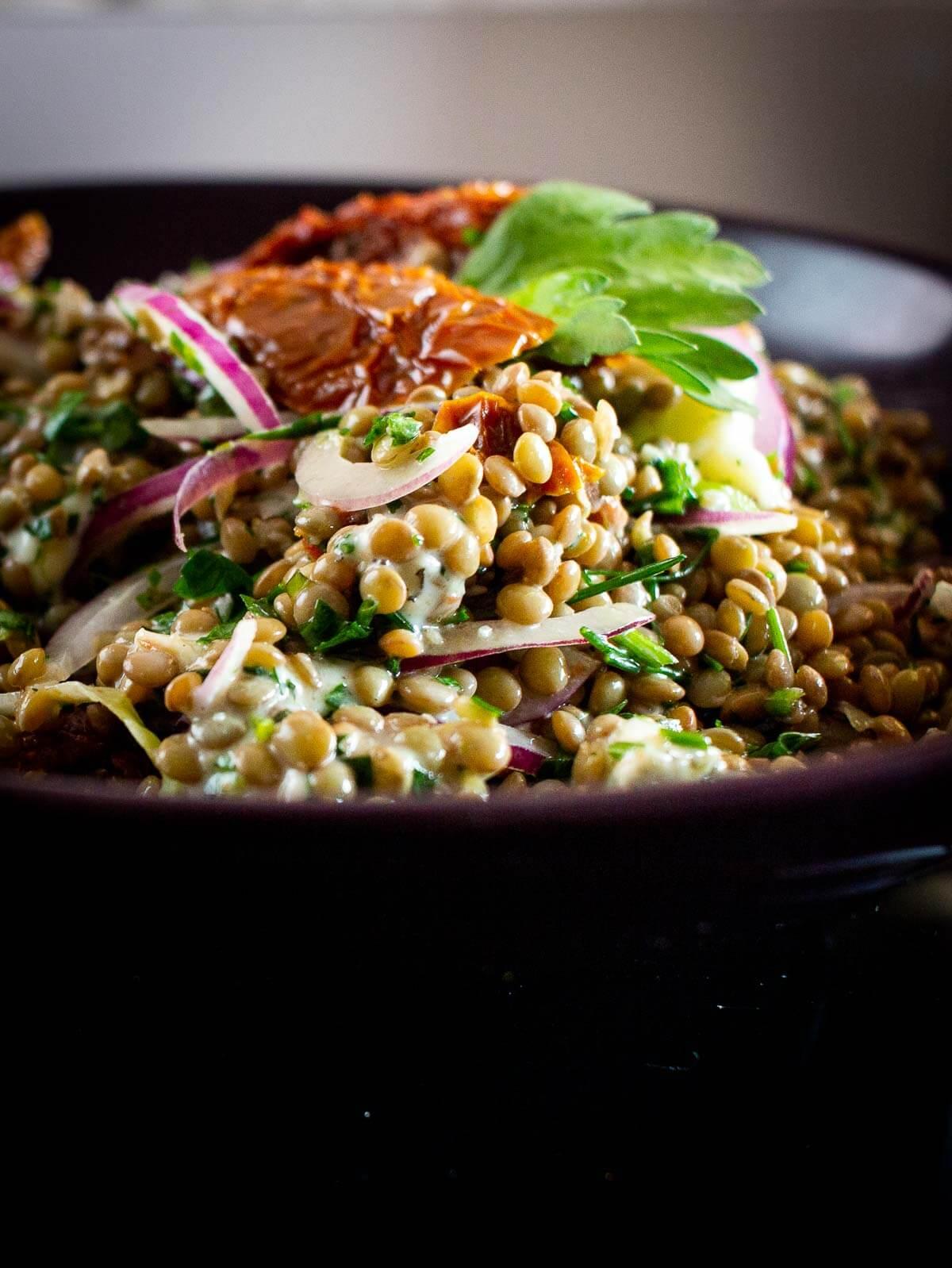 gorgonzola lentils salad