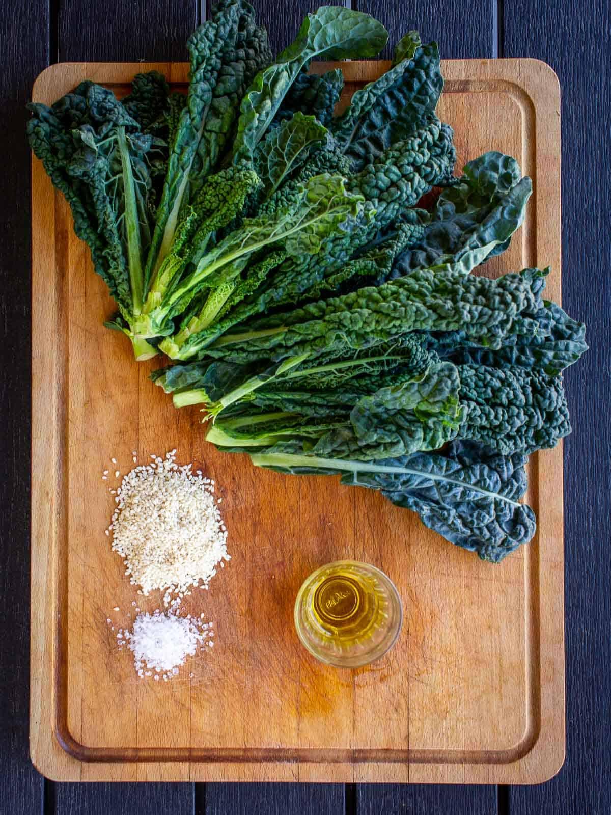 crispy kale ingredients