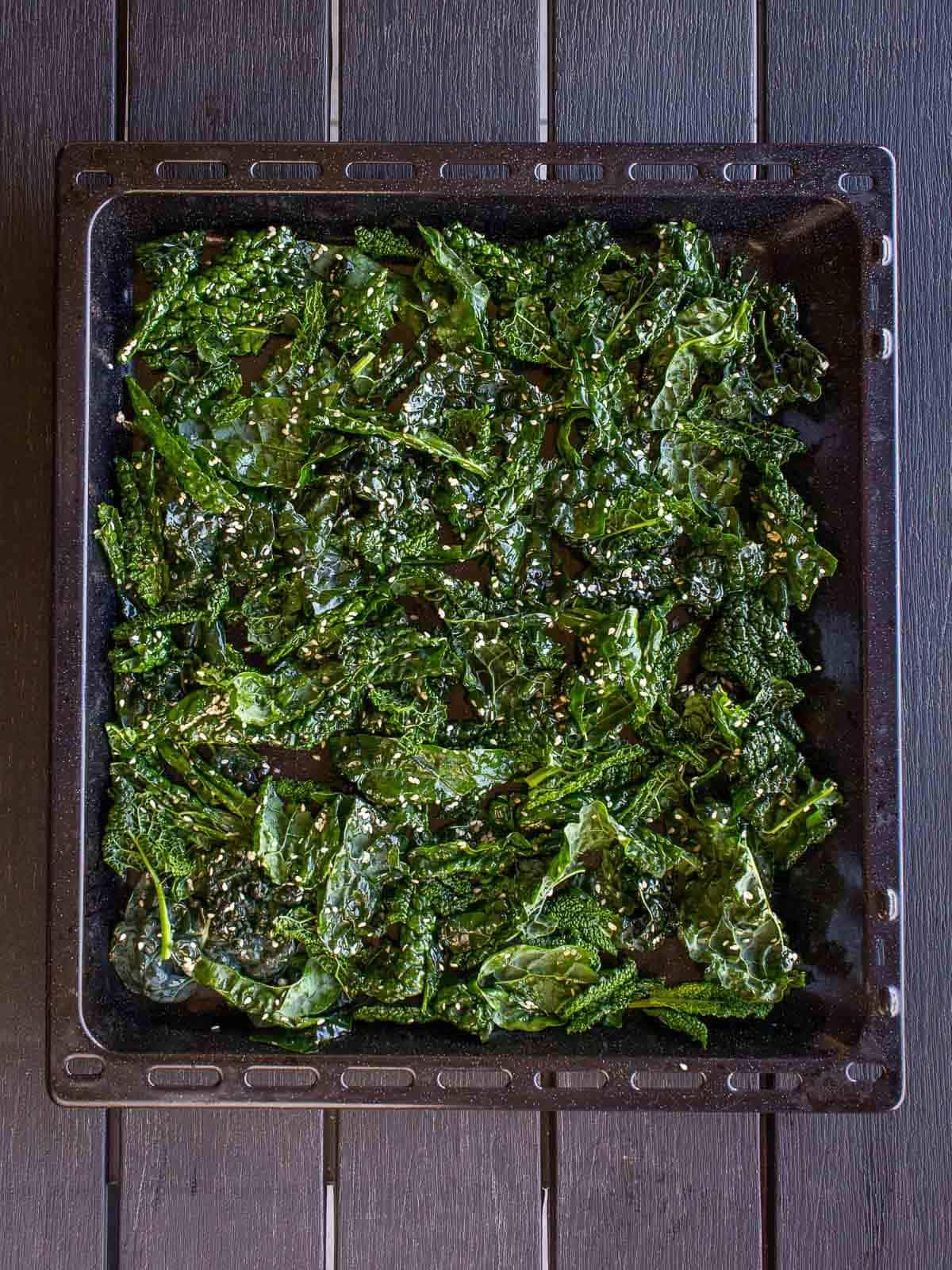 crispy kale tray