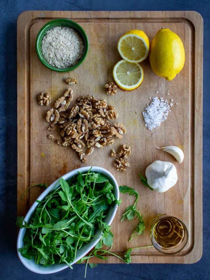 Vegan Rucola Pesto Ingredients