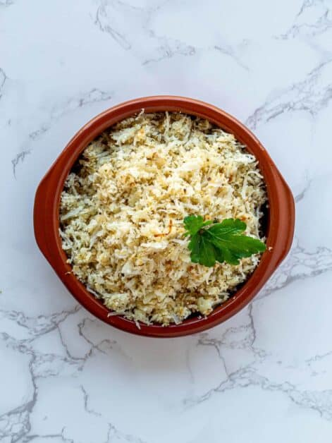 Cauliflower Rice ingredients Caribbean Style