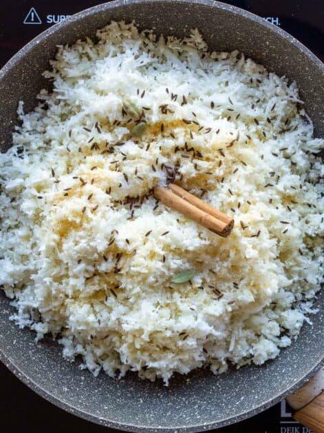 Cauliflower Rice Indian Spices