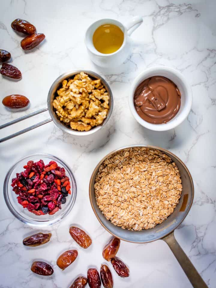 homemade granola bars ingredients