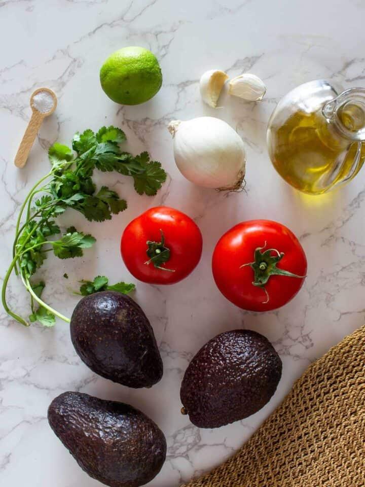 Homemade Guacamole Ingredients