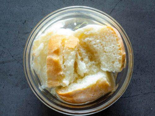 soaking bread