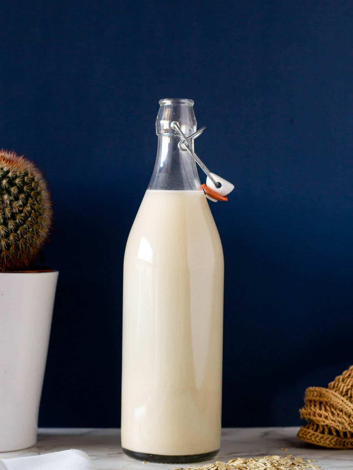 oat milk bottle