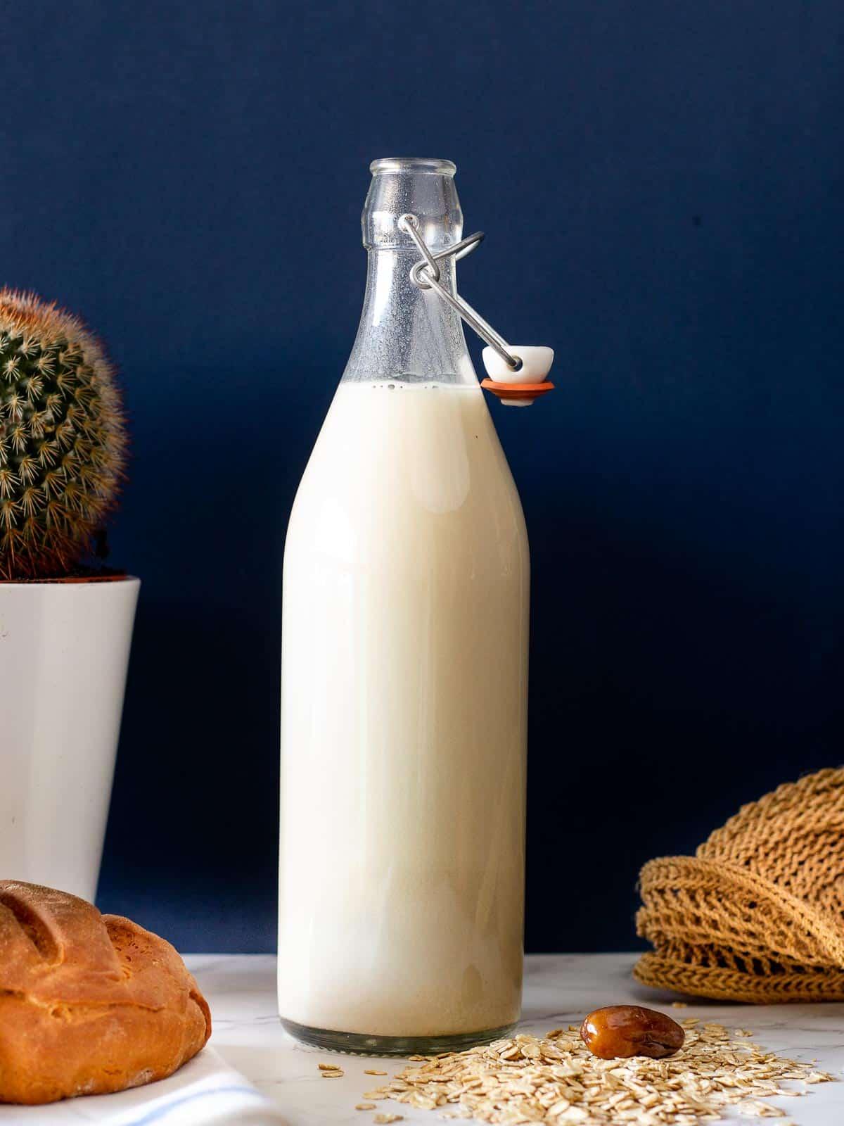 oat milk in bottle
