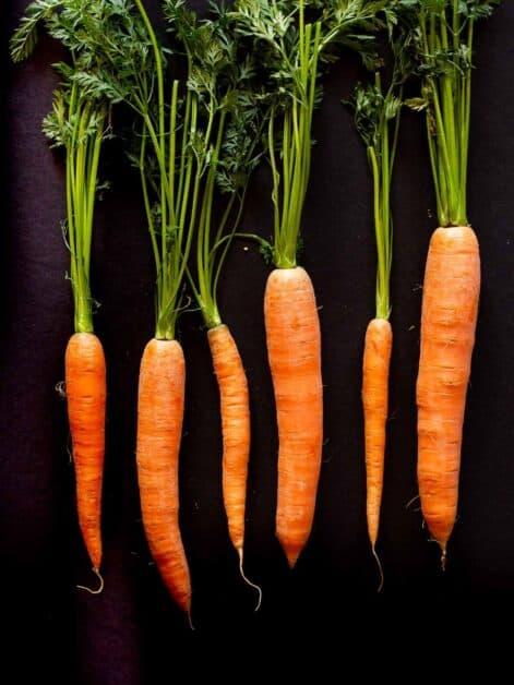Lined Organic Carrots