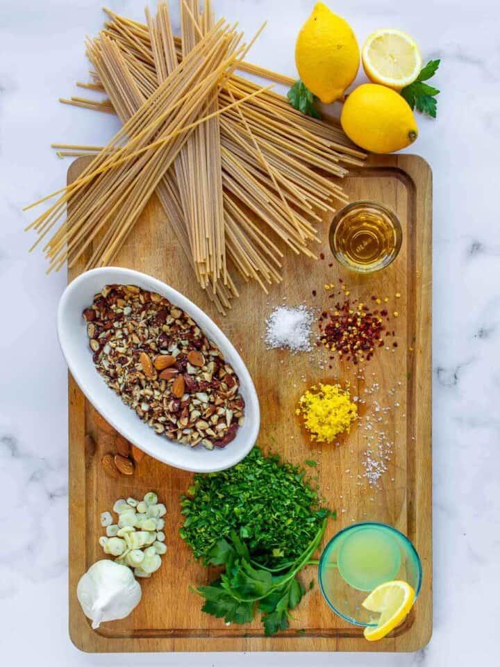 Lemony Spaghetti Ingredients