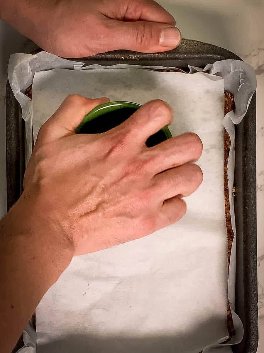 pressing granola bars ingredients