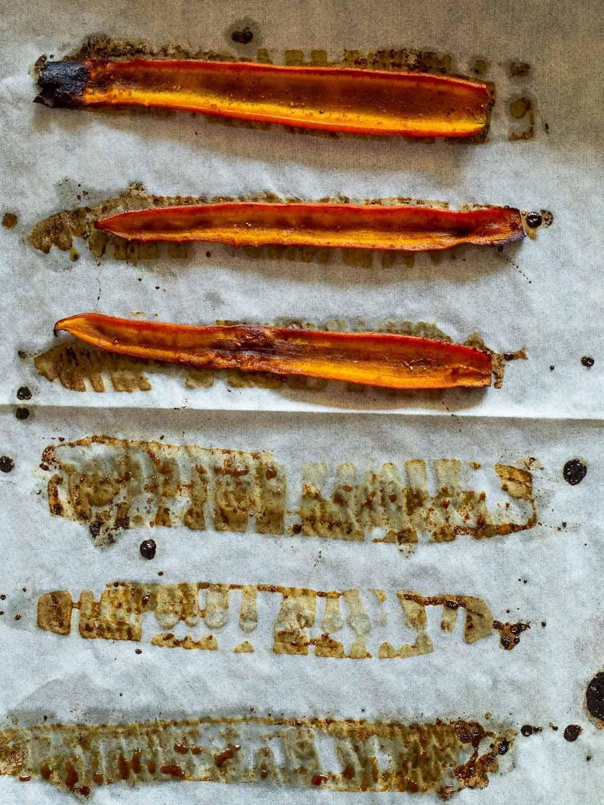 Serving Carrot Bacon
