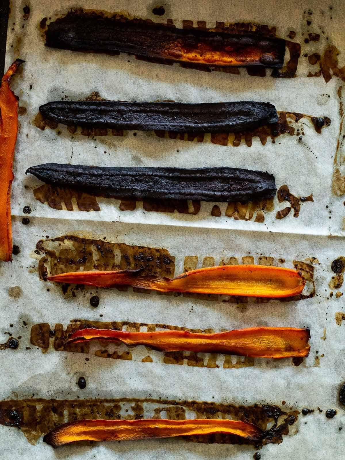 Burnt Carrot on parchment paper