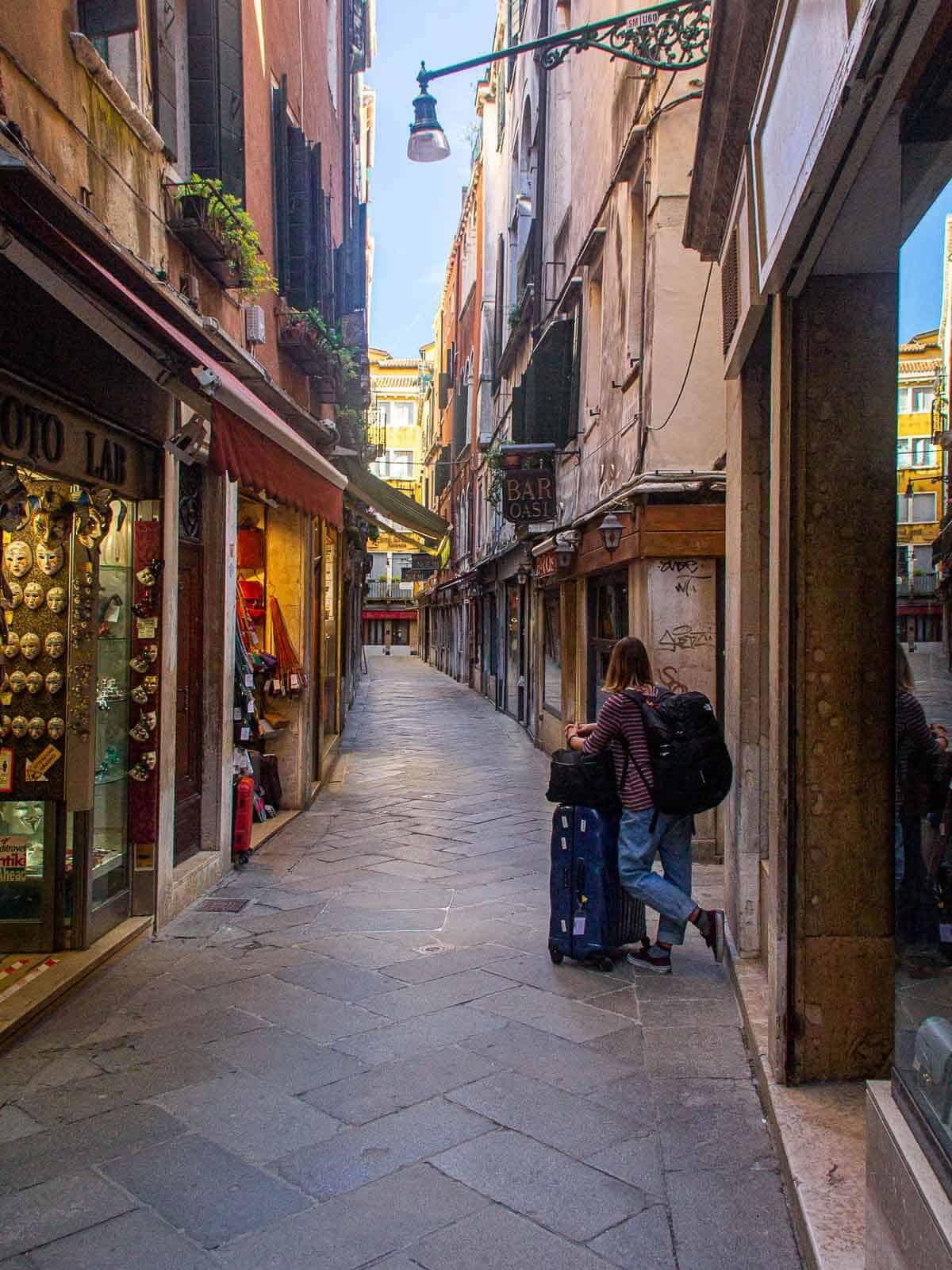 Empty Venice Santa Croce Neighborhood