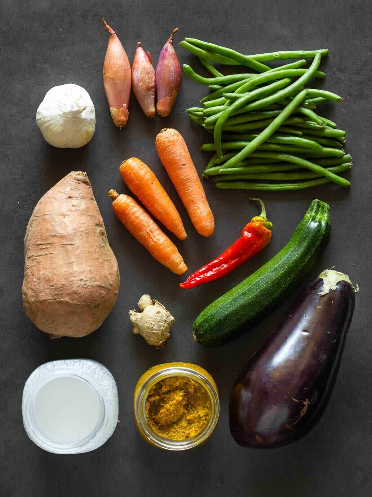 Yellow Curry Ingredients