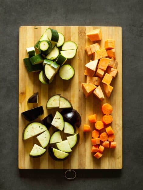 Diced Vegetables for Curry