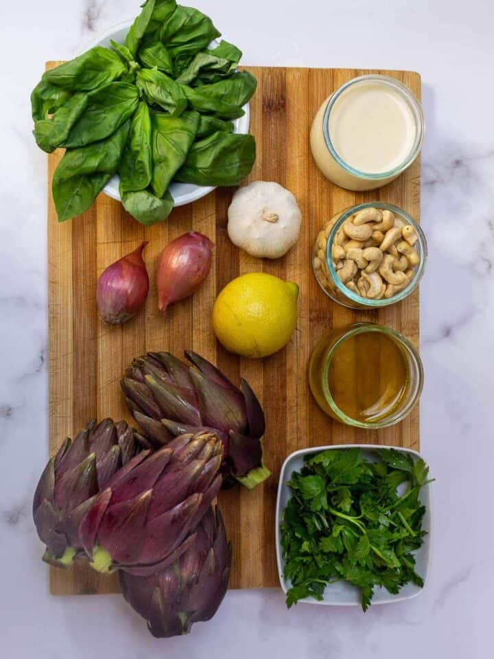 artichokes with dipping sauce ingredients