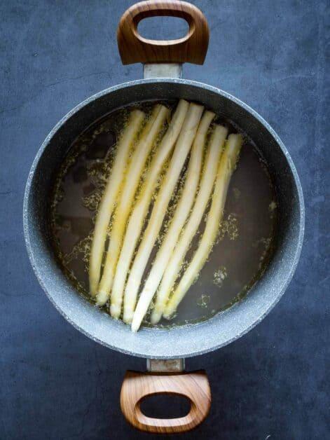 White Asparagus Simmering
