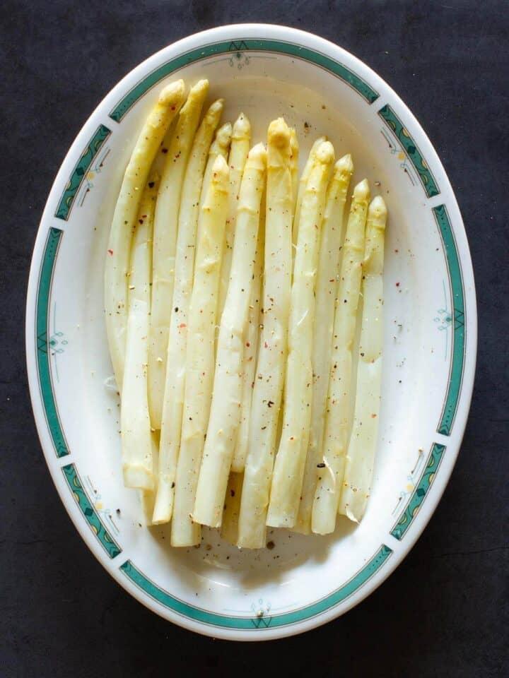 White Asparagus Served