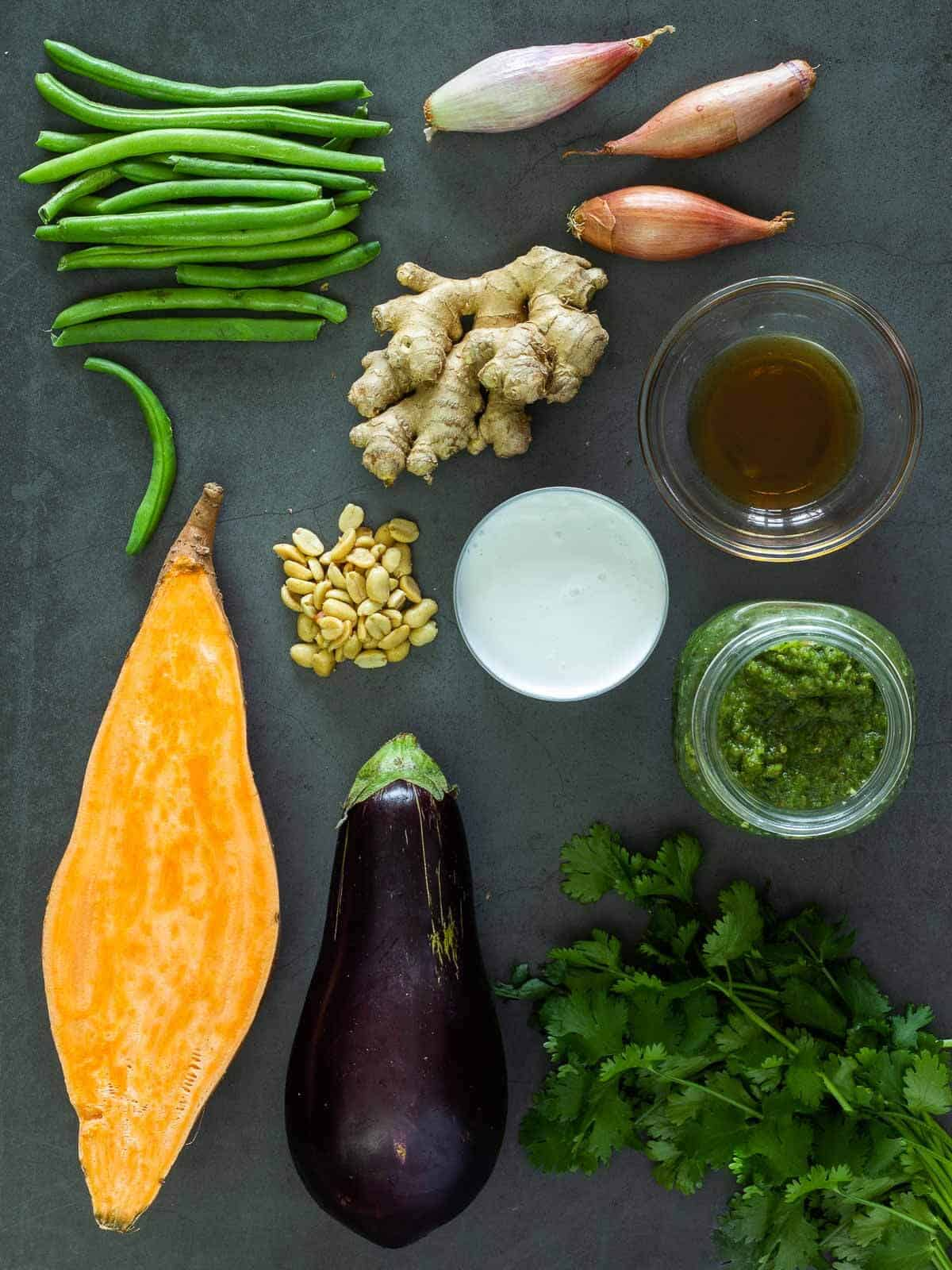 Green Thai Curry Ingredients