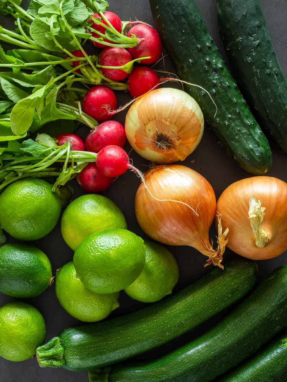 Vegan Ceviche Basic Ingredients