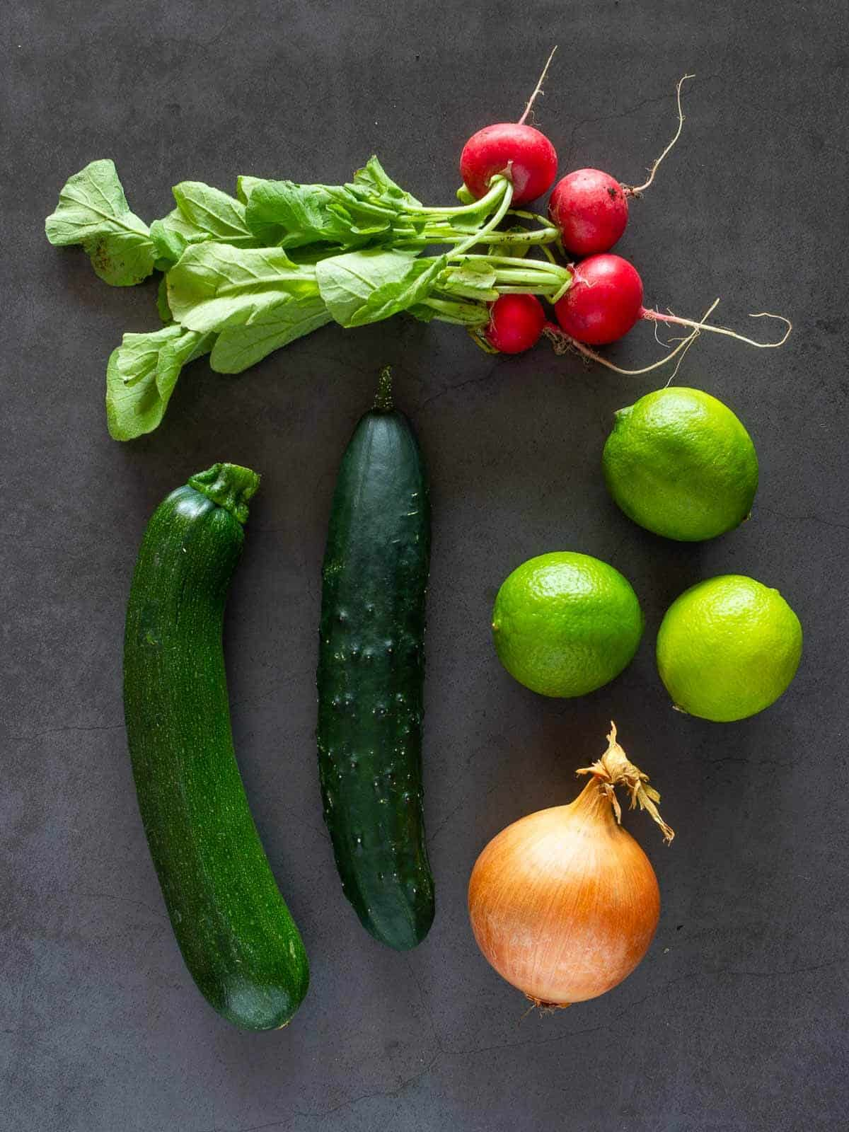 Vegan Ceviche Ingredients