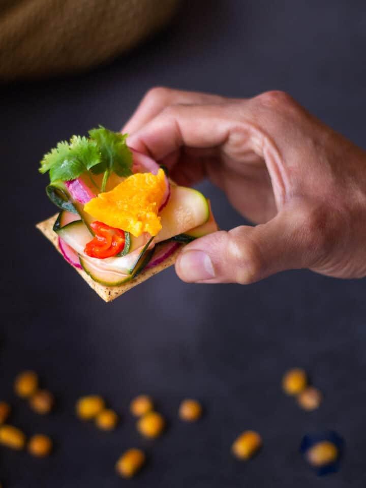Vegan Ceviche bite